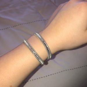 NWOT LOFT Gray Wrap Bracelet